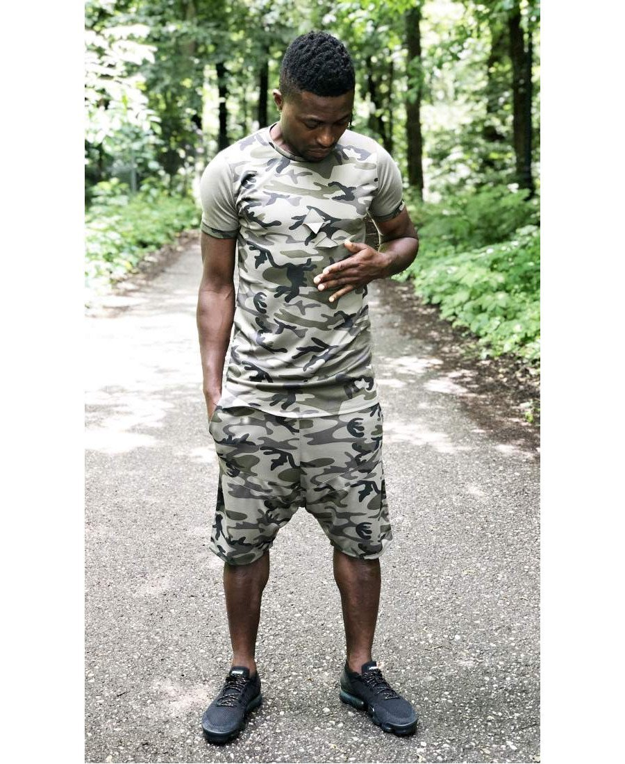 (SET) Tracksuit ''Short Camo'' (t-shirt+trousers) - Fatai Style