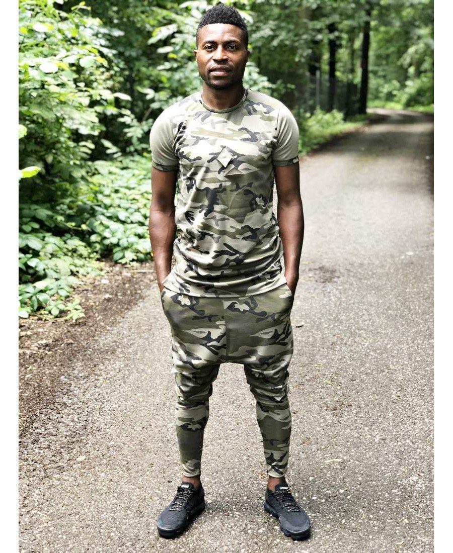 (SET) Tracksuit ''Long Camo'' (t-shirt+trousers) - Fatai Style
