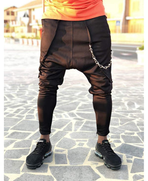 Black trousers with different chain - Fatai Style