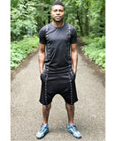 (SET) Tracksuit ''Black with double metal accesories'' (t-shirt+trousers) - Fatai Style