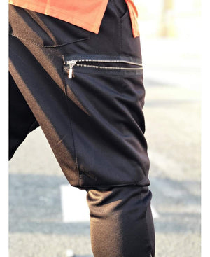 Black Trousers with zip pocket - Fatai Style