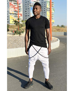 White trousers with black design - Fatai Style