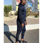 Dark blue tracksuit with black lines - Fatai Style