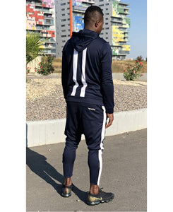 Dark blue tracksuit with white design - Fatai Style