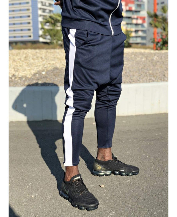 Dark blue trousers with white line - Fatai Style