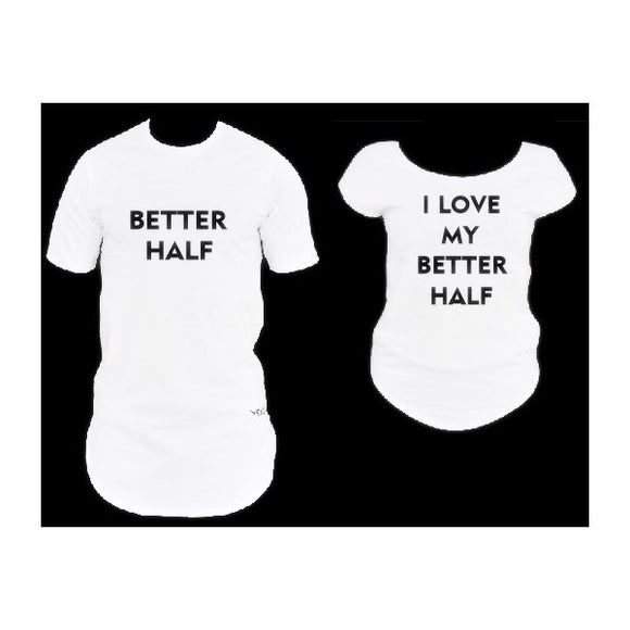Set of 2 Personalized Valentine`s Day T-shirts - Fatai Style