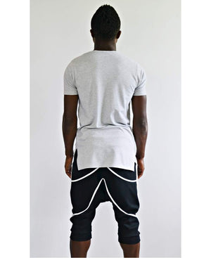Black short trousers with white design - Fatai Style