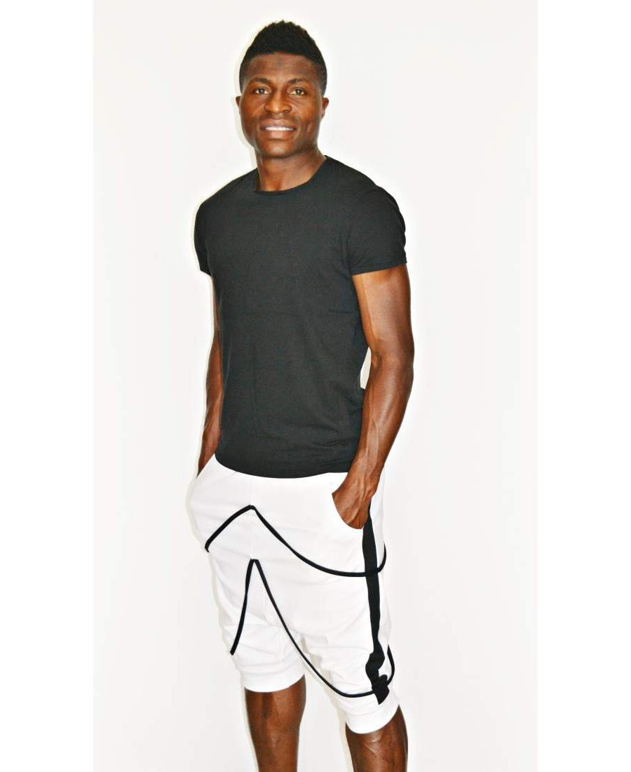 White short trousers with black desgn - Fatai Style