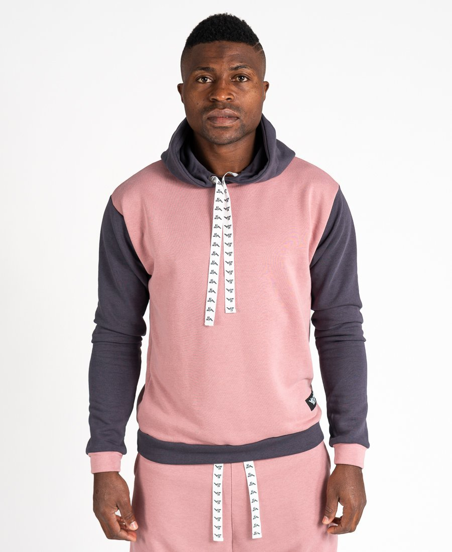 Pink sweater with grey - Fatai Style
