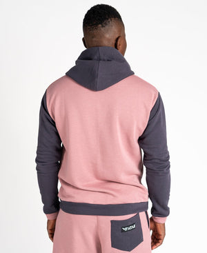 Pink sweater with grey