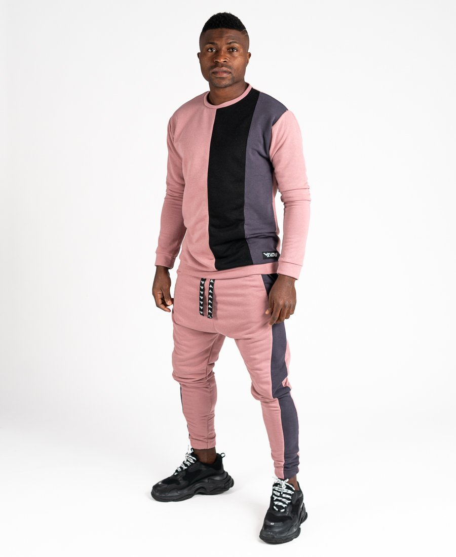 Pink tracksuit with black and grey - Fatai Style