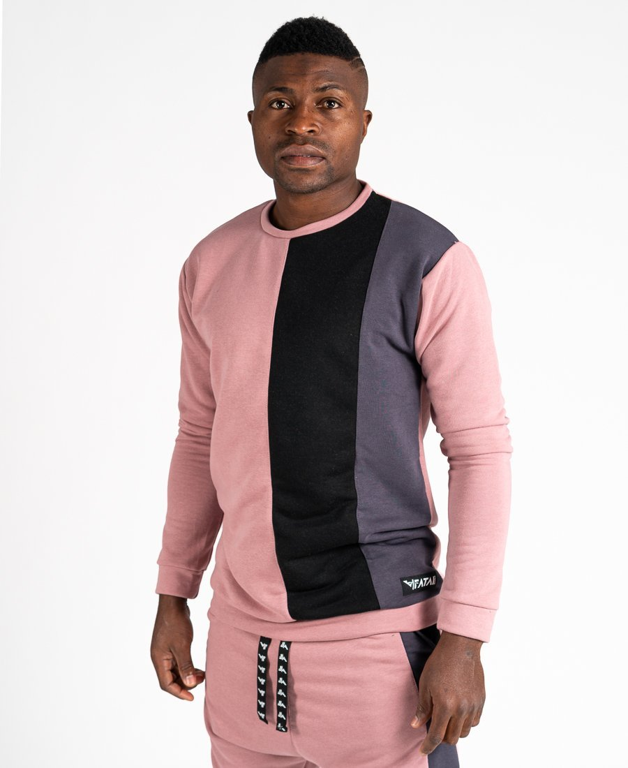 Pink sweater with black and grey - Fatai Style