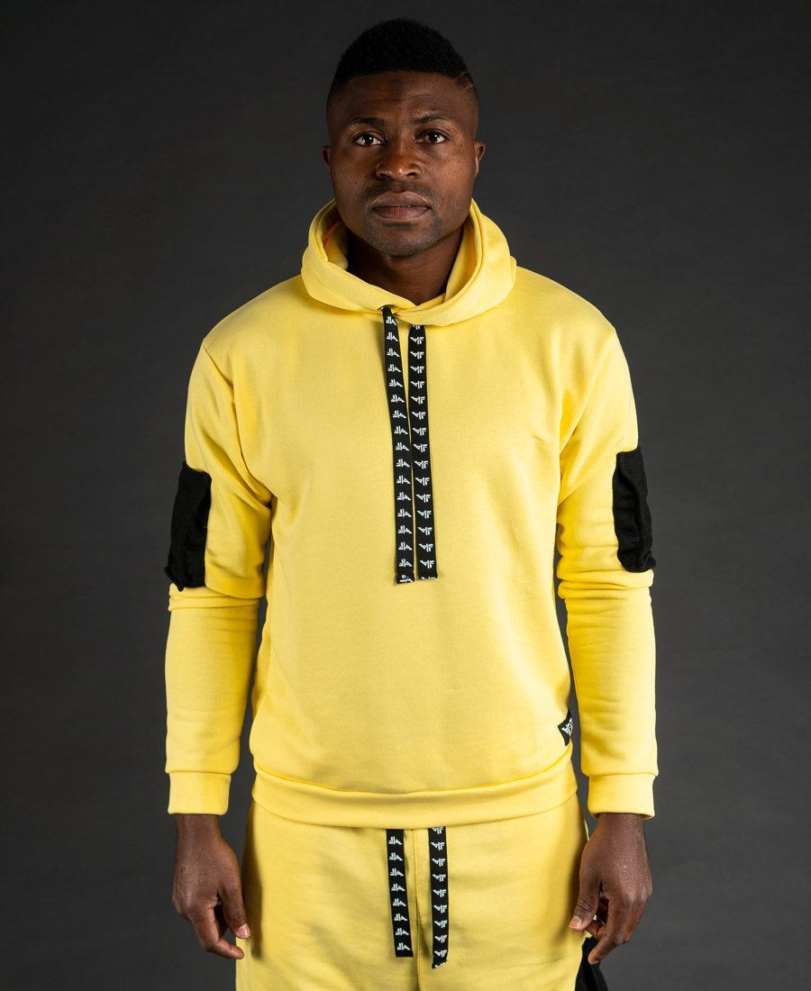 Yellow sweater with black pockets - Fatai Style