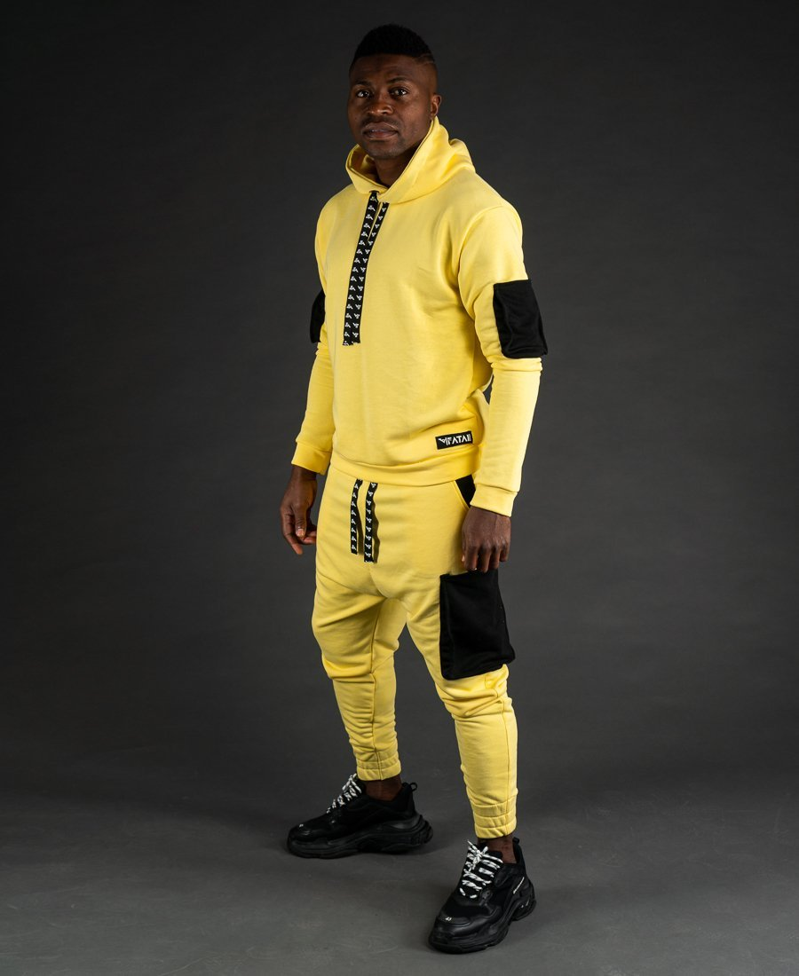 Yellow tracksuit with black pockets - Fatai Style