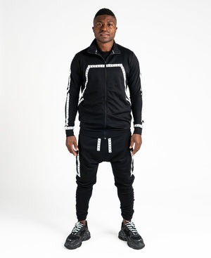 Black tracksuit with logo design