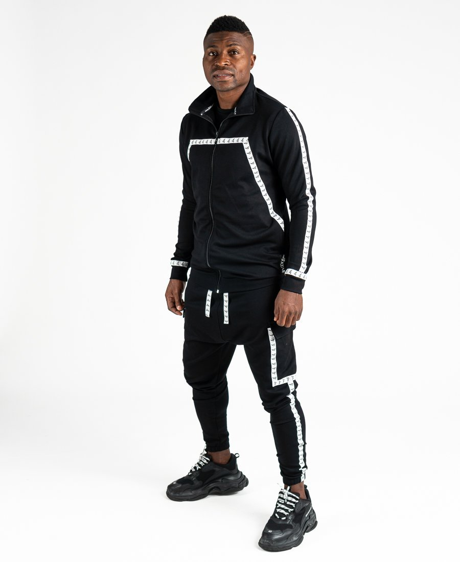 Black tracksuit with logo design - Fatai Style