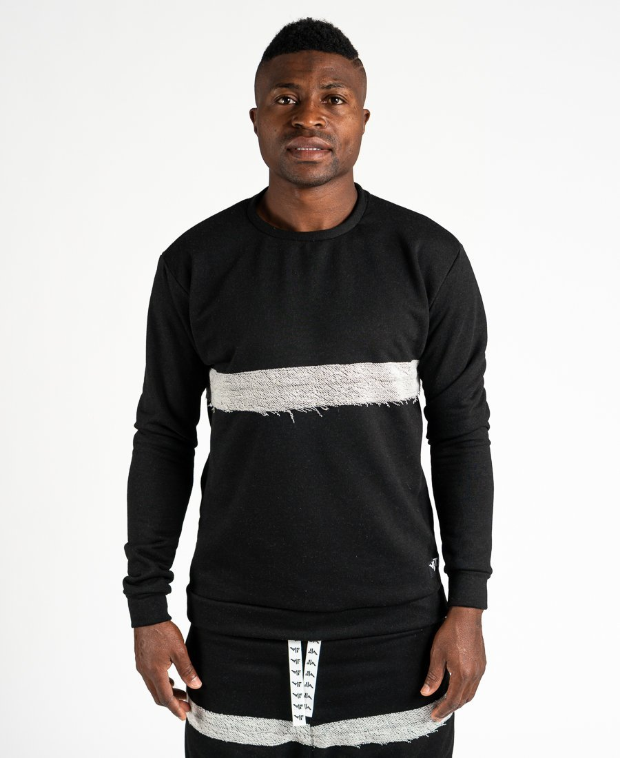 Black sweater with special design - Fatai Style