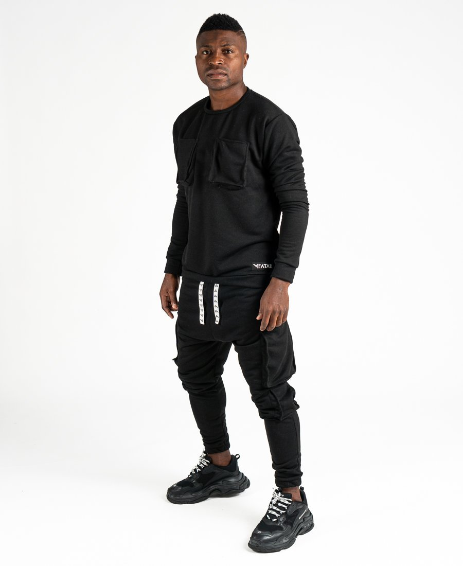 Black tracksuit with pockets - Fatai Style