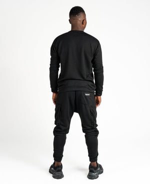 Black tracksuit with pockets