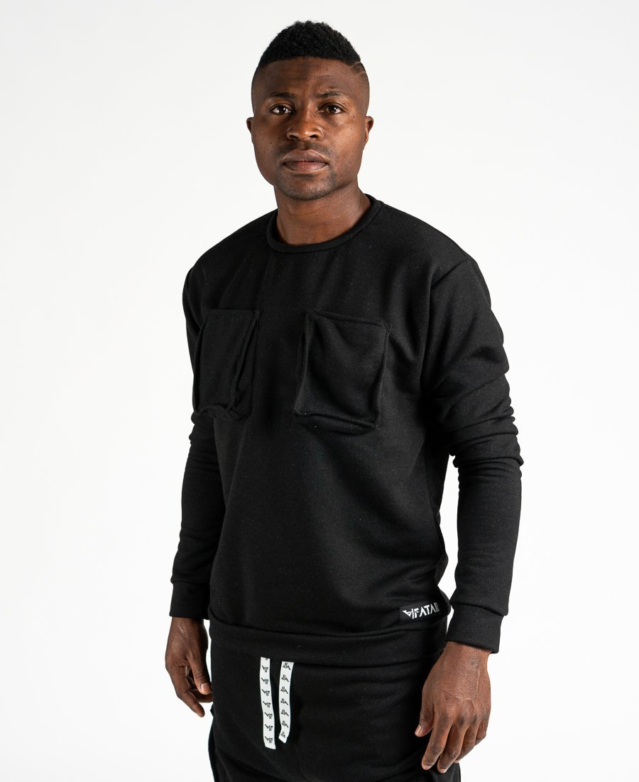 Black sweater with pockets - Fatai Style