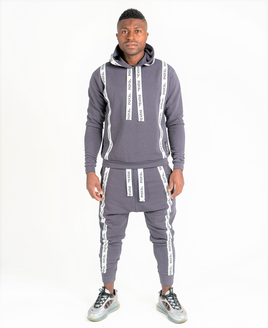 Grey tracksuit with logo design - Fatai Style