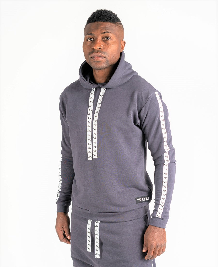 Grey sweater with side logo - Fatai Style