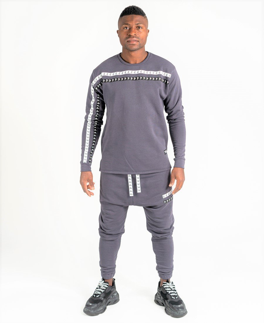 Grey tracksuit with double logo - Fatai Style