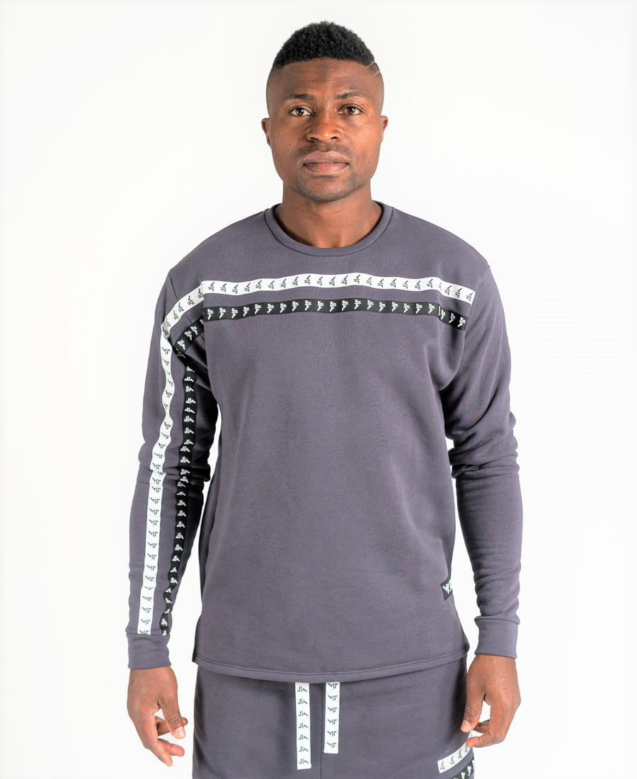 Grey sweater with double logo - Fatai Style