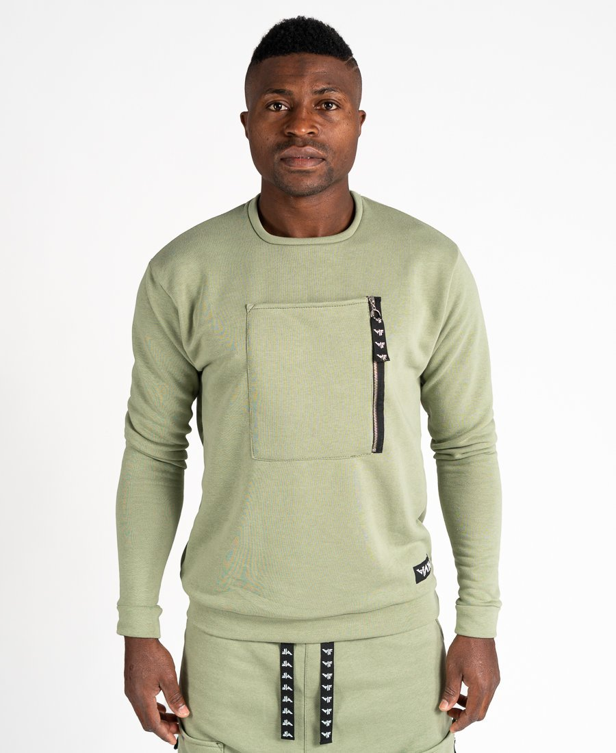 Green sweater with pockets - Fatai Style