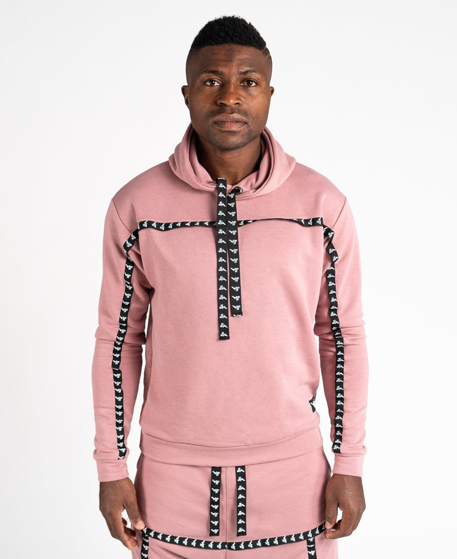 Pink sweater with black logo - Fatai Style
