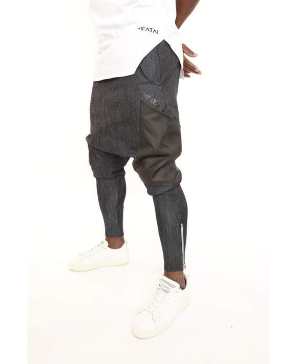 Dark blue jeans with black pockets - Fatai Style