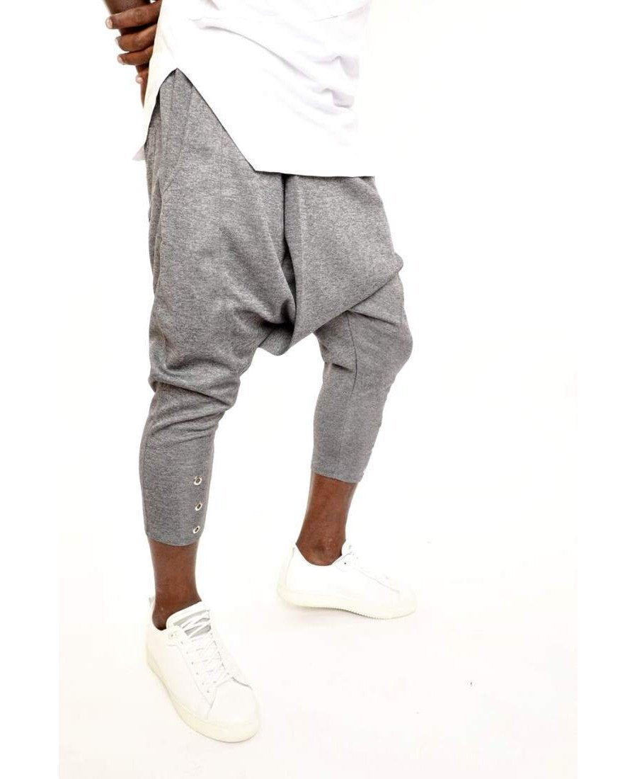 Grey trousers with metal accesories - Fatai Style