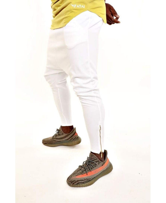 White trousers with silver zips - Fatai Style