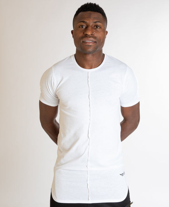 White t-shirt with designed line - Fatai Style