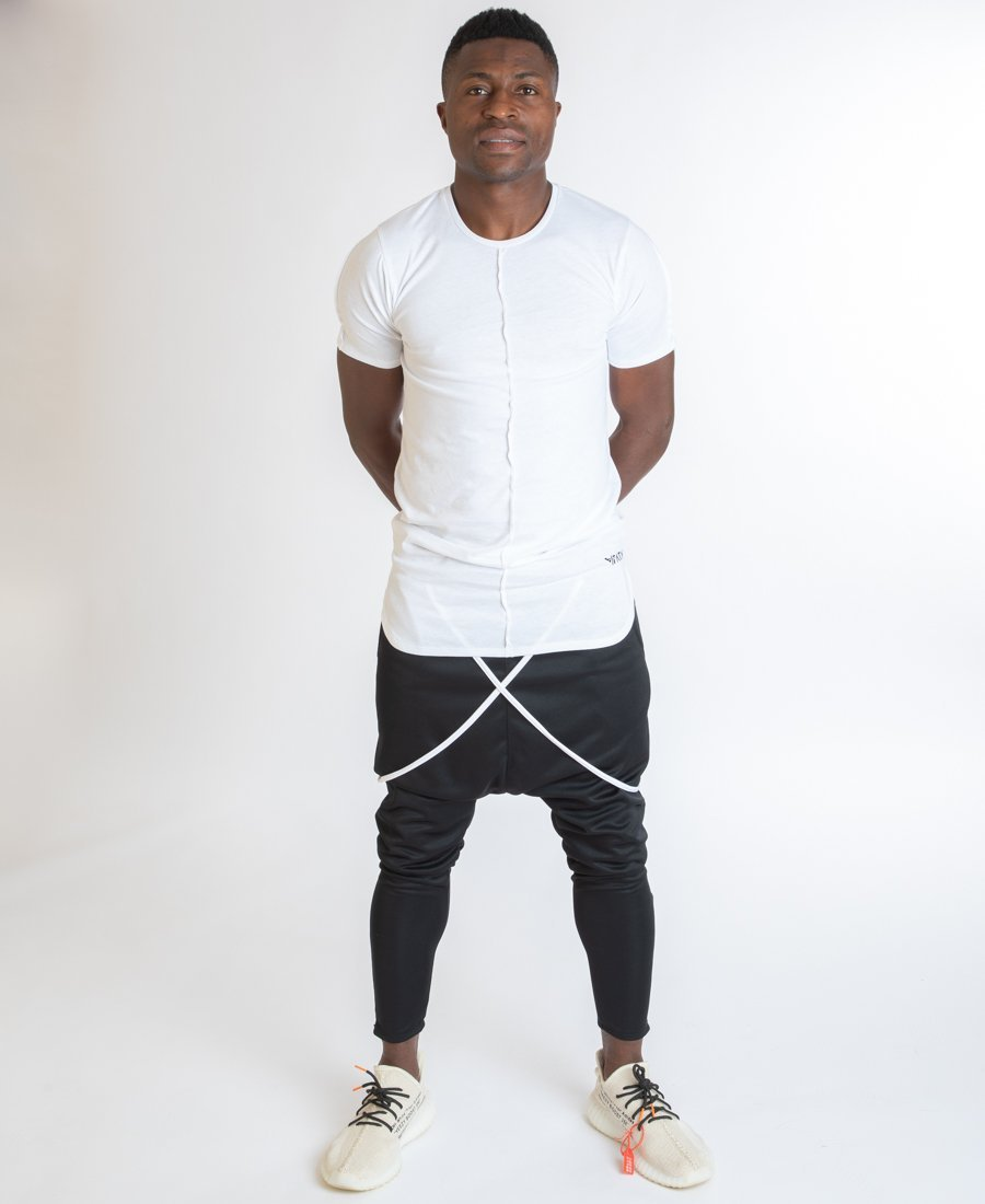 Black trousers with white design - Fatai Style
