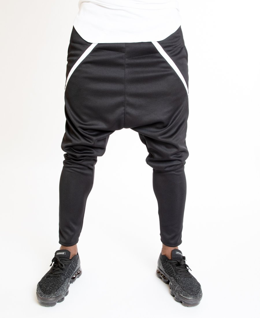 Black trousers with white small line - Fatai Style