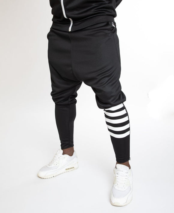Black trousers with white stripes - Fatai Style