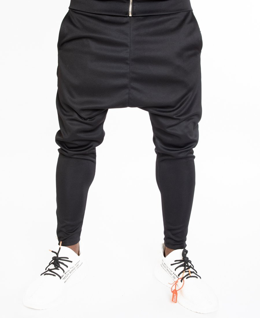 Black tracksuit trousers with gold zip - Fatai Style