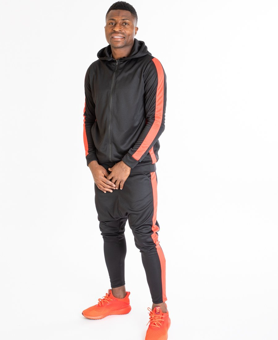 Black tracksuit with red lines side - Fatai Style