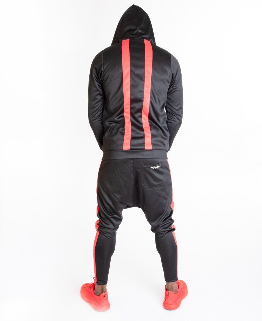 Black tracksuit with red design - Fatai Style