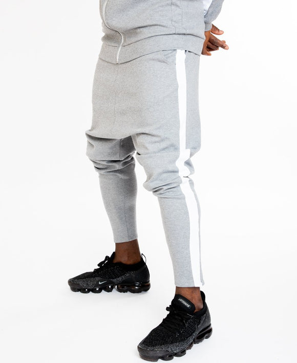 Grey tracksuit trousers with white lines - Fatai Style