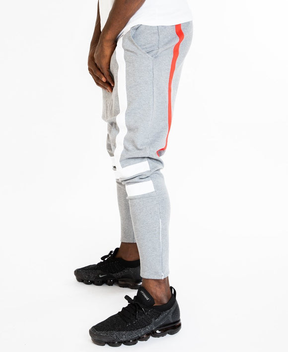 Grey trousers with white and red lines - Fatai Style