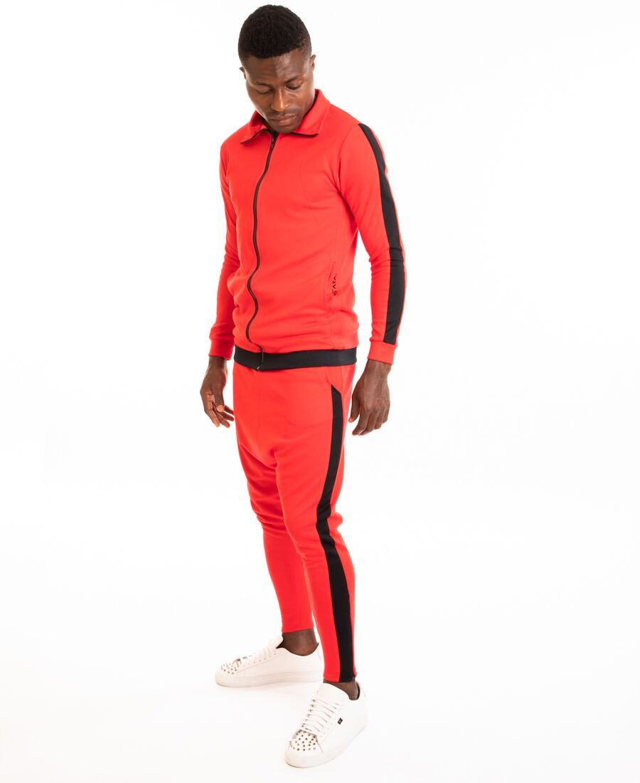 Tracksuit red with black line - Fatai Style