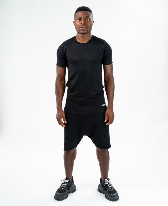 Black tracksuit (t-shirt+short trousers) - Fatai Style