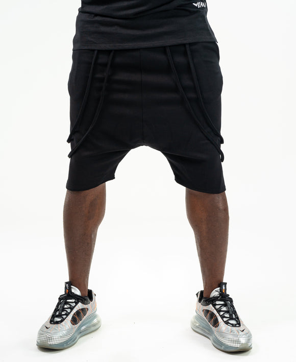 Short Trousers black with double design - Fatai Style