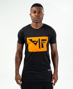 Black t-shirt with orange logo - Fatai Style