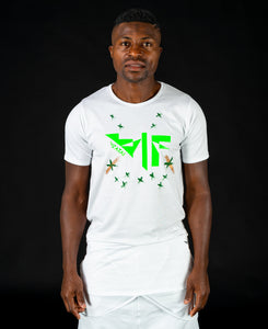 White t-shirt with green logo - painted - Fatai Style