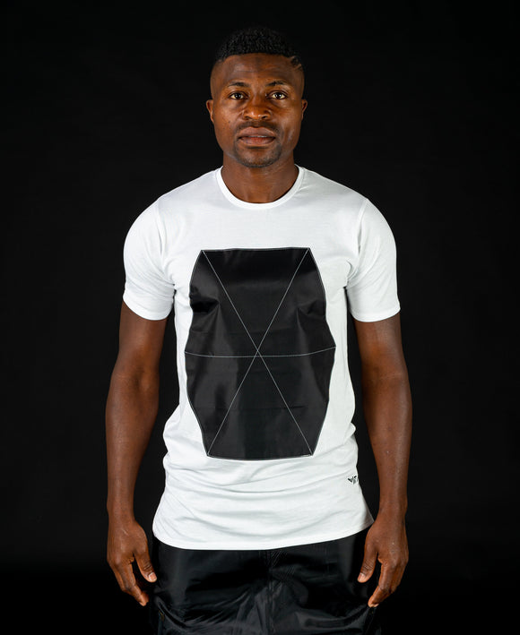 White t-shirt with black spider design - Fatai Style