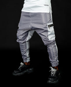 Light Grey trousers with black zip - Fatai Style