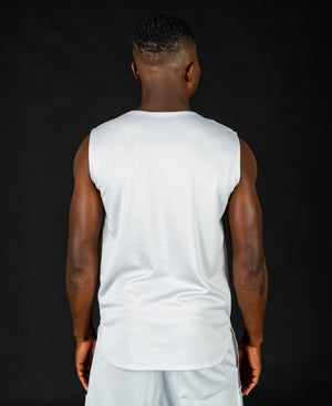 Sleveless t-shirt with grey pocket design - Fatai Style